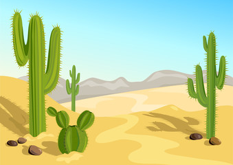cactus in the desert. natural background