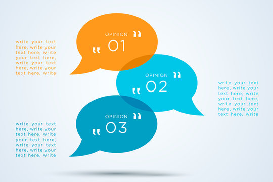 Speech Bubbles Transparent With Numbers 1 to 3
