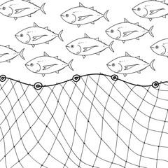 fishnet, vector