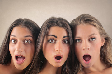 Surprised girls
