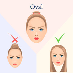 Hairstyle for oval face