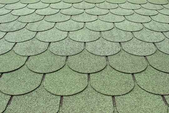 Dacheindeckung mit Biberschwanz-Bitumen