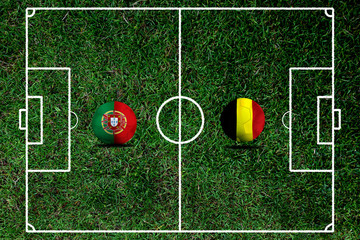 Football teams Portugal and Belgium