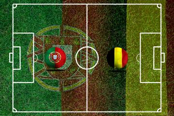 Football teams Portugal and Belgium