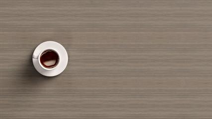 Kaffee in Tasse von oben