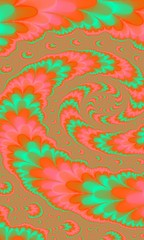 fractal abstract pattern. bright color