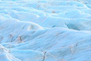 The blue ice of Svinafell Glacier national park