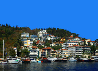 View of the Bebek, Istanbul. Turkey.