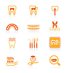 Dental icons || JUICY series