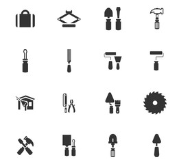 Work tools icons set