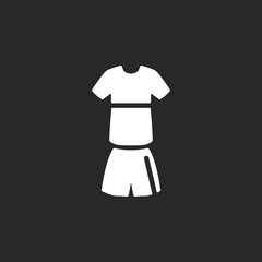 Soccer sport uniform sign simple icon on background