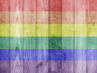 Gay Rainbow 8 stripe flag pattern on dirty old concrete wall tex