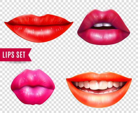 Lips Transparent Set