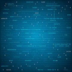 Abstract technology background, figures, computer code, vector design wallpaper