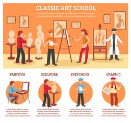 Classic Art Infographic Set