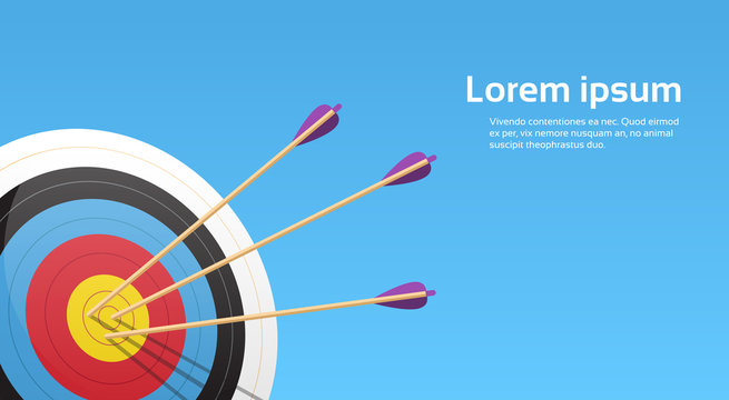 Archery Target With Arrows Archer Sport Game Competition