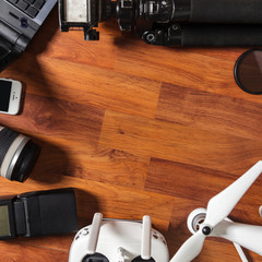 The tools of a professional photographer and video