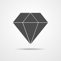 Crystal icon - vector illustration.