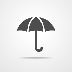 Umbrella icon - vector illustration.