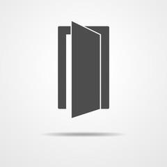Door icon - vector illustration