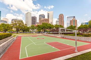 Basketball court in Houston, Texas