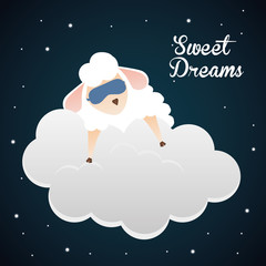 Sweet dreams design, vector illustration eps 10.