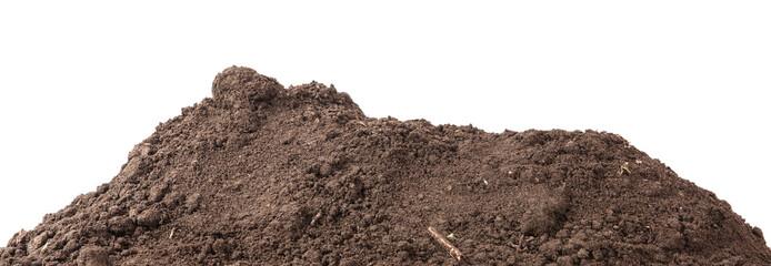 Fototapeta the soil for planting isolated on white background obraz