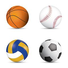 Four Ball Sport soccorer football valleyball basketball baseball.