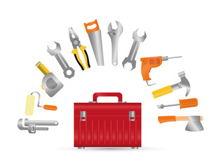 Tools digital design, vector illustration eps 10.