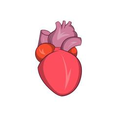 Heart human icon, cartoon style