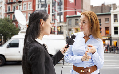 Interview on New York City Street