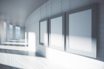 Blank frames in corridor