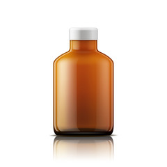 Isolated medicine bottle on white background.