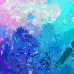 pink and turquoise brush strokes