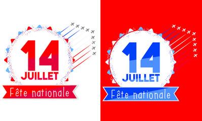 Fête nationale - 14 juillet - Logo
