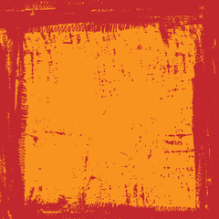 grunge red orange ink border frame background