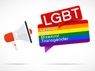 megaphone : LGBT (english)
