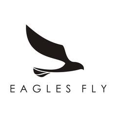Flying Eagle Logo, Flying Eagle Logo Silhouette