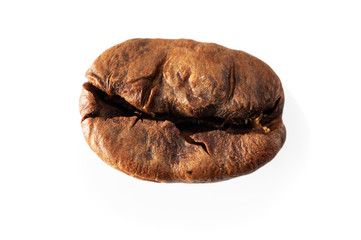 Roasted coffee, isolated macro.
