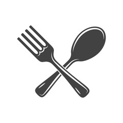 Two crossed battleaxes, battle axes. Black on white flat vector illustration, logo element isolated on white background