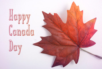 Canada Day Maple Leaf with handdrawn text