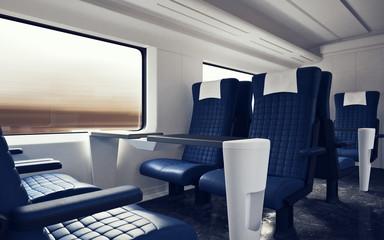 firstclass modern armchair. Interior Inside First Class Cabin Modern Speed Express Train Empty Blue  Chairs Window Comfortable Search photos luxurious armchair