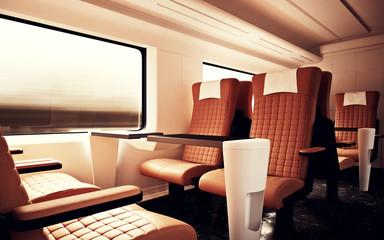 firstclass modern armchair. Interior Inside First Class Cabin Modern Speed Express Train Empty Brown  Chairs Window Comfortable Search photos luxurious armchair