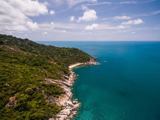 Aerial island view of Koh Phangan, Thailand