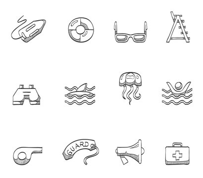 Lifeguard icons in sketch.