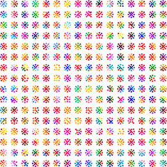 Stylish colorful polka dot pattern background.