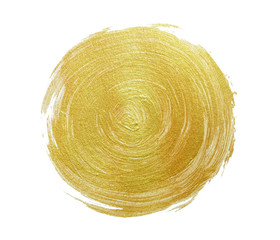 gold paint on white paper