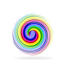 Logo rainbow wave