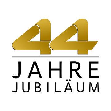 Einfach Gold Jubiläums Logo Jahre 44