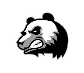 A vector illustration of angry panda's face. Really good for mascot.
